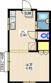 メゾン・ド・ノア2階Fの間取り画像