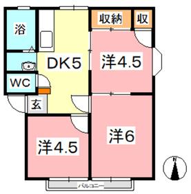 サンライフ若宮 A1階Fの間取り画像