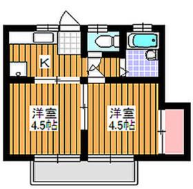 地下鉄成増駅 徒歩5分2階Fの間取り画像