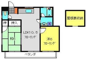 山﨑アパート2階Fの間取り画像