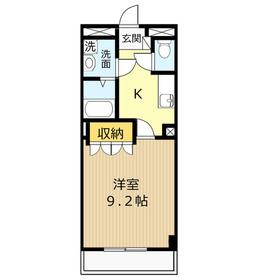 エスポアール・エルク1階Fの間取り画像