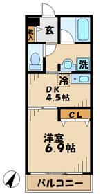 デルニエ1階Fの間取り画像