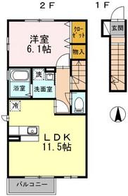 高座渋谷駅 徒歩5分2階Fの間取り画像