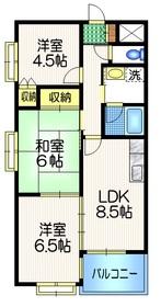 ハイタウン武蔵野3階Fの間取り画像