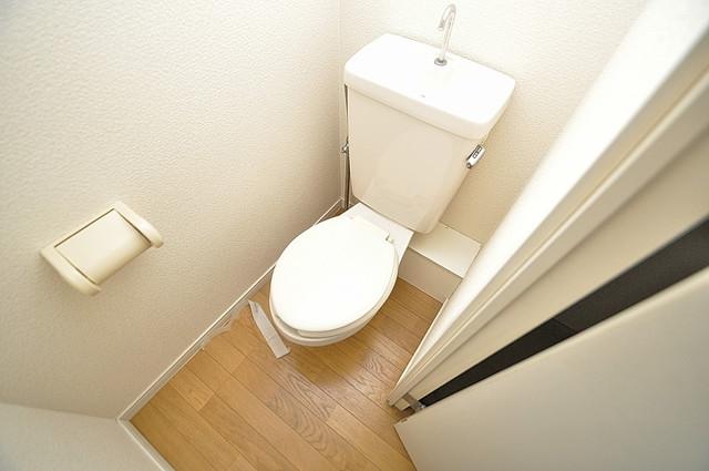 レオパレス菱屋西 清潔感たっぷりのトイレです。入るとホッとする、そんな空間。