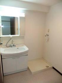洗面化粧台と洗濯機置場