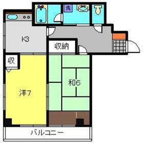 メゾンドベル3階Fの間取り画像