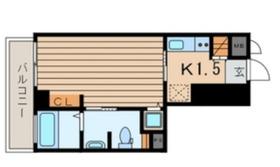 横浜翠葉BuildingI6階Fの間取り画像