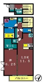 アークヒルズ二宮22階Fの間取り画像