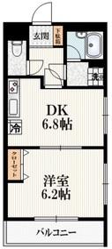 マノワール四谷1階Fの間取り画像