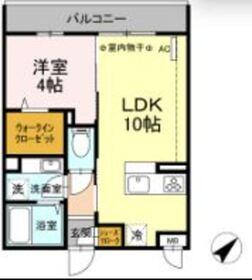 ハイム羽沢横浜国大 112階Fの間取り画像