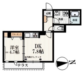 野方駅 徒歩12分1階Fの間取り画像