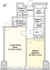 ラ・トゥール三田36階Fの間取り画像