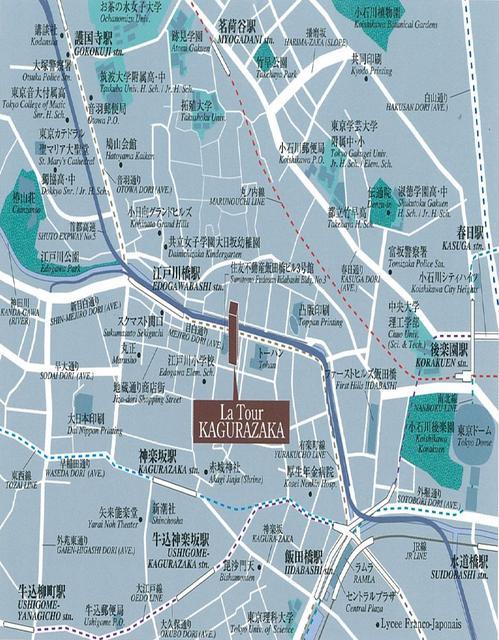 ラ・トゥール神楽坂案内図