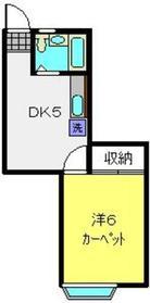 パールハイムB1階Fの間取り画像