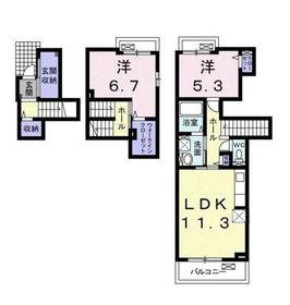 ウィステリア プラス2階Fの間取り画像