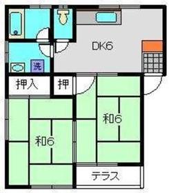 屏風浦駅 徒歩20分1階Fの間取り画像