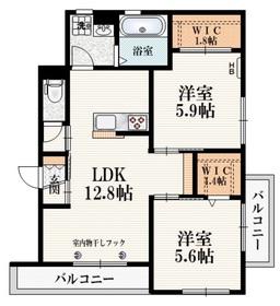 (仮称)柴崎町5丁目Iマンション2階Fの間取り画像