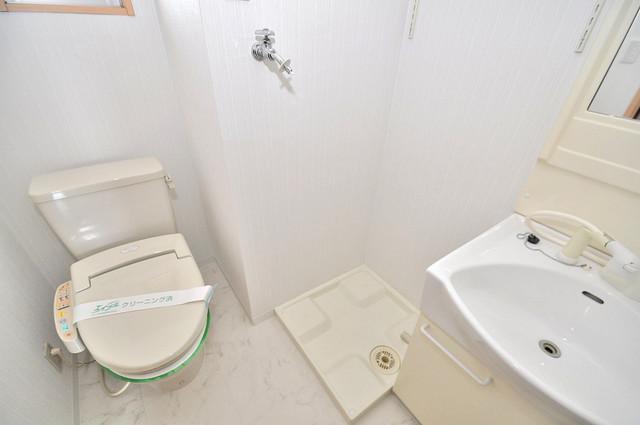 Celeb布施東 嬉しい室内洗濯機置場。これで洗濯機も長持ちしますね。