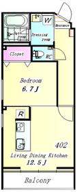 THE WOOD(デザイナーズマンション) 402号室