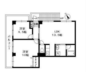 藤棚マンション2階Fの間取り画像