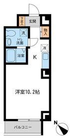 RJRプレシア新横浜4階Fの間取り画像