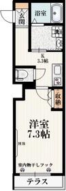 メゾン ド ショコラ1階Fの間取り画像