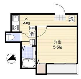 仮称)足立区舎人2丁目共同住宅 新築工事 A号棟2階Fの間取り画像