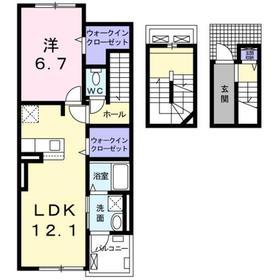 本厚木駅 バス32分「局前」徒歩4分3階Fの間取り画像