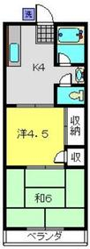 岡村ハイツ1階Fの間取り画像