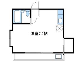 レジデンスエポカ2階Fの間取り画像