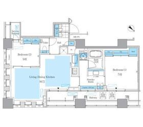 パークアクシス月島マチュアスタイル5階Fの間取り画像