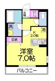 星谷ハイム三番館1階Fの間取り画像