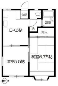 北久里浜駅 バス6分「大矢部2丁目」徒歩6分1階Fの間取り画像