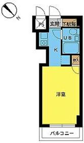 スカイコート横浜平沼3階Fの間取り画像