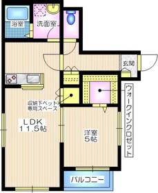 メゾン ド サーハル2階Fの間取り画像