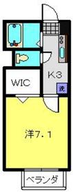 メゾンツルオカ2階Fの間取り画像