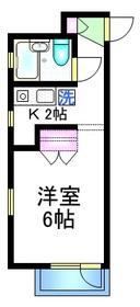 アサヒマンション2階Fの間取り画像