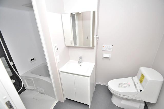 クロスレジデンス布施 人気の独立洗面所はゆったりと余裕のある広さです。