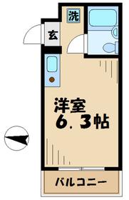 ユーカリハイツ八王子1階Fの間取り画像