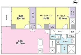 小田急南青山マンション4階Fの間取り画像