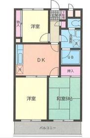 薫ガーデンハイム3階Fの間取り画像