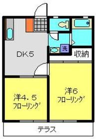 綱島駅 徒歩12分1階Fの間取り画像