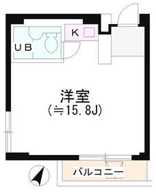 渋谷駅 徒歩5分7階Fの間取り画像