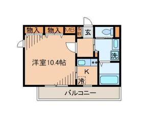 プルーム2階Fの間取り画像