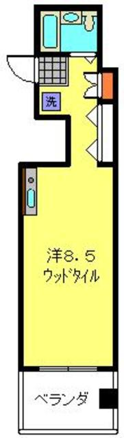 トレアルベロ横浜間取図