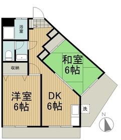かみやマンション2階Fの間取り画像