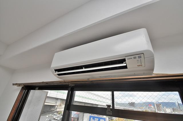エイチ・ツーオー高井田ビル うれしいエアコン標準装備。快適な生活が送れそうです。