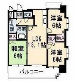 サンルーフパークマンション5階Fの間取り画像