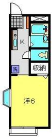 キャピタルハイム2階Fの間取り画像